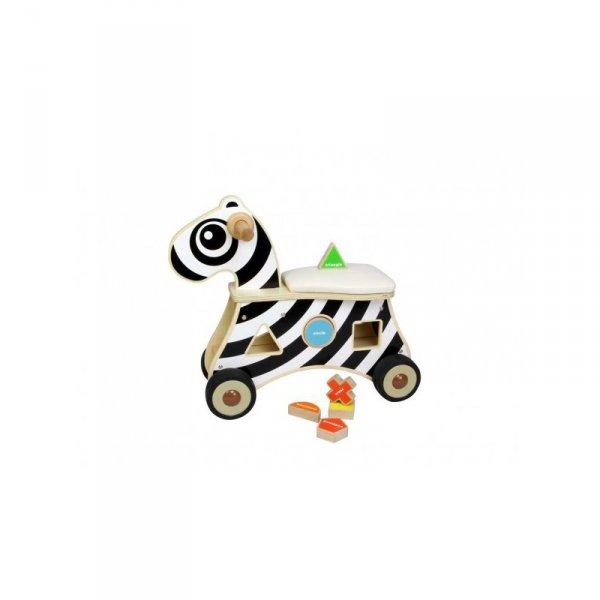 Jeździk Sorter Kształtów Zebra - MASTERKIDZ