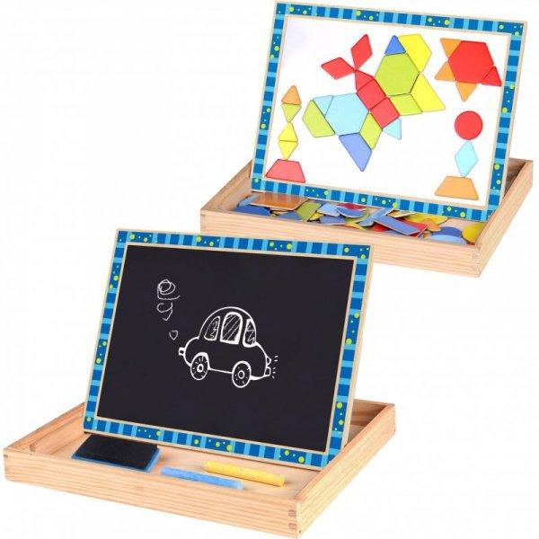 Dwustronna Tablica Magnetyczna Układanka Puzzle Kształty - TOOKY TOY