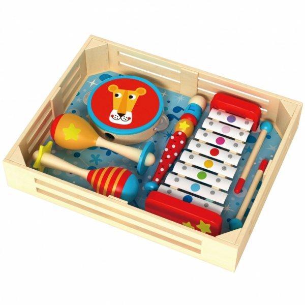 Instrumenty Muzyczne - Cymbałki Bębenek Flet Marakasy - TOOKY TOY