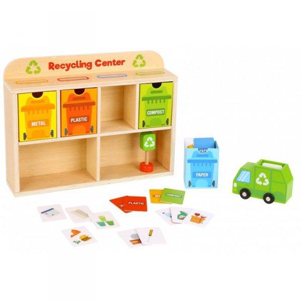 Drewniane Centrum Recyklingu - Edukacyjny Sorter - TOOKY TOY