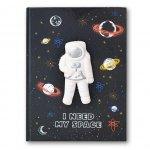 Stnux Zeszyt w kratkę Notatnik Squishy Kosmos 80 kartek