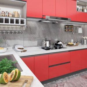 Okleina meblowa samoprzylepna, czerwona, 500x90 cm, PVC