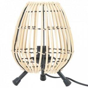 Lampa stołowa, wiklinowa, 60 W, 20x27 cm, E27
