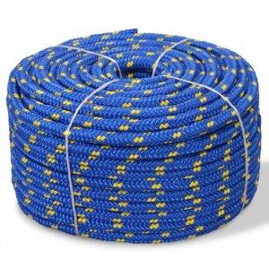 Linka żeglarska z polipropylenu, 6 mm, 100 m, niebieska