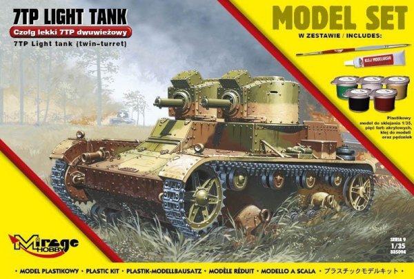 Mirage Czołg lekki 7tp dwuwieżowy set