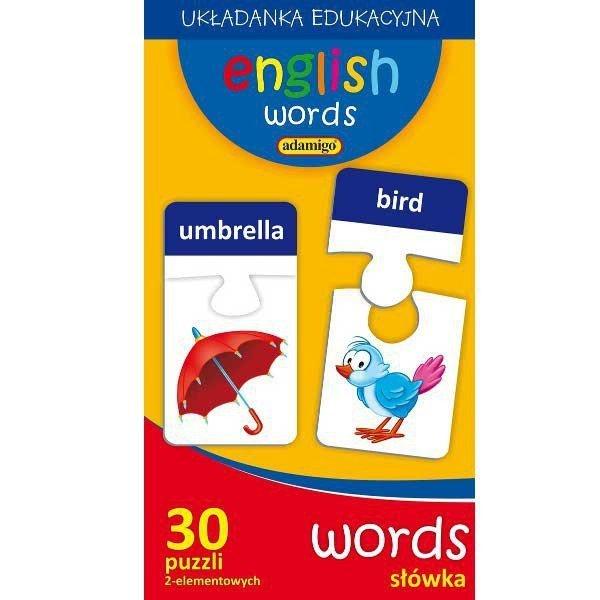 Adamigo Puzzle Edukacyjne Słówka