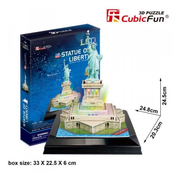 Cubic Fun Puzzle 3D Statua Wolności (Światło)