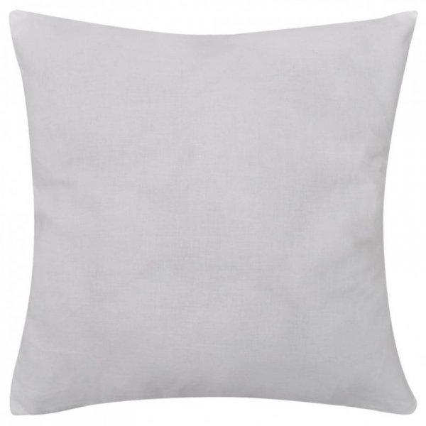 4 Białe bawełniane poszewki na poduszki 80 x 80 cm