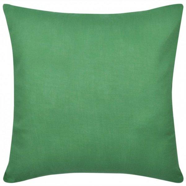 4 Zielone bawełniane poszewki na poduszki 50 x 50 cm