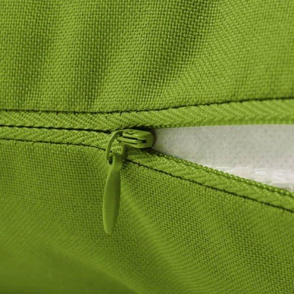 Poduszki na zewnątrz, 4 sztuki, 60x40 cm, zielone jabłuszko