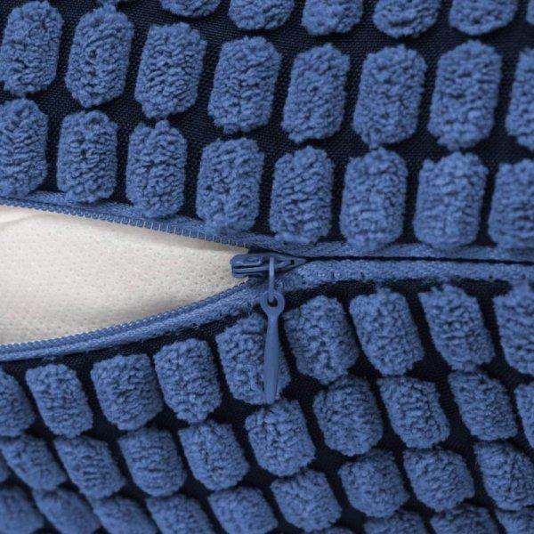 2-częściowy zestaw poduszek, welur, 60x60 cm, niebieskie