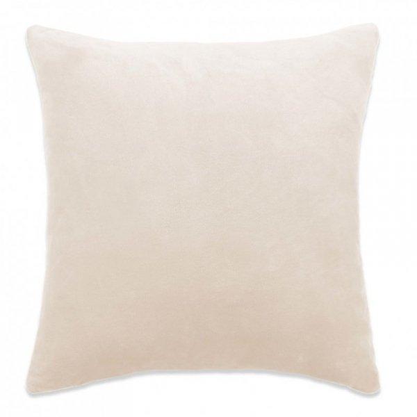Poszewki na poduszki, 4 szt., welur, 40x40 cm, złamana biel