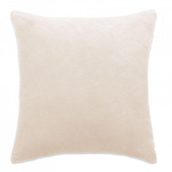 Poszewki na poduszki, 4 szt., welur, 80x80 cm, złamana biel