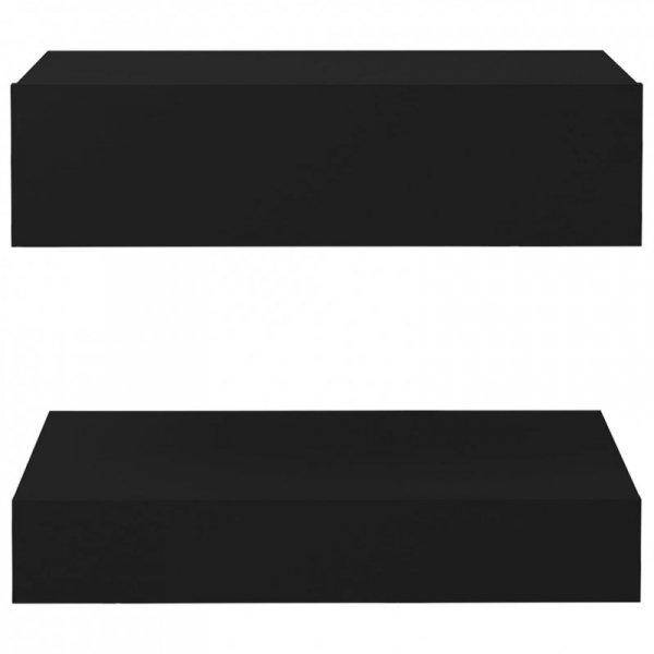 Szafka nocna, czarna, 60x35 cm, płyta wiórowa