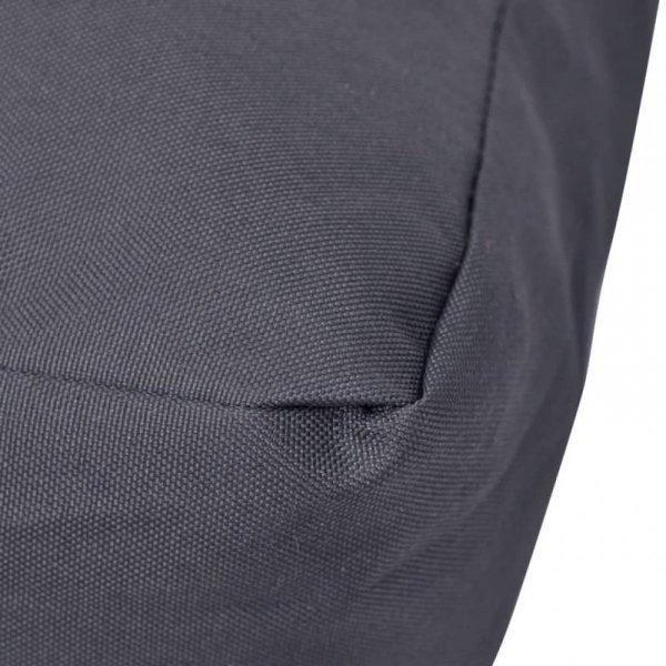 Grubo wyściełana poduszka na siedzisko, 60x60x10 cm, szara