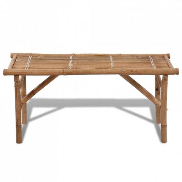 Składana ławka ogrodowa, 118 cm, bambusowa