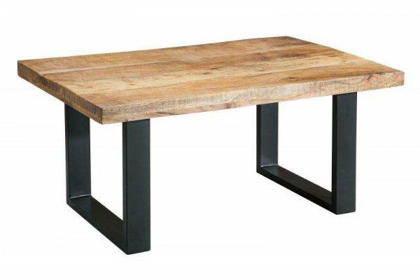 INVICTA stolik kawowy IRON CRAFT 100 - lite drewno mango, podstawa czarna