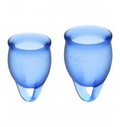 Kubeczek menstruacyjny (ciemny niebieski) - Feel Confident Menstrual Cup Set Dark Blue