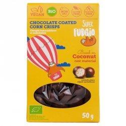 Chrupki w czekoladzie bezglutenowe Super Fudgio BIO, 50g