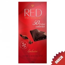 Czekolada ciemna 40% mniej kalorii RED Delight, 100g