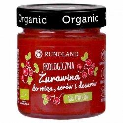 Żurawina 80% owoców do mięs, serów i deserów Runoland BIO, 200g