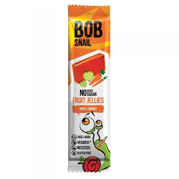 Przekąska Jellies jabłkowo-marchewkowa bez dodatku cukru Bob Snail, 38g