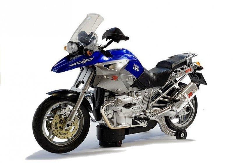 Motocykl Na Baterie ze Światłami i Muzyką Niebieski