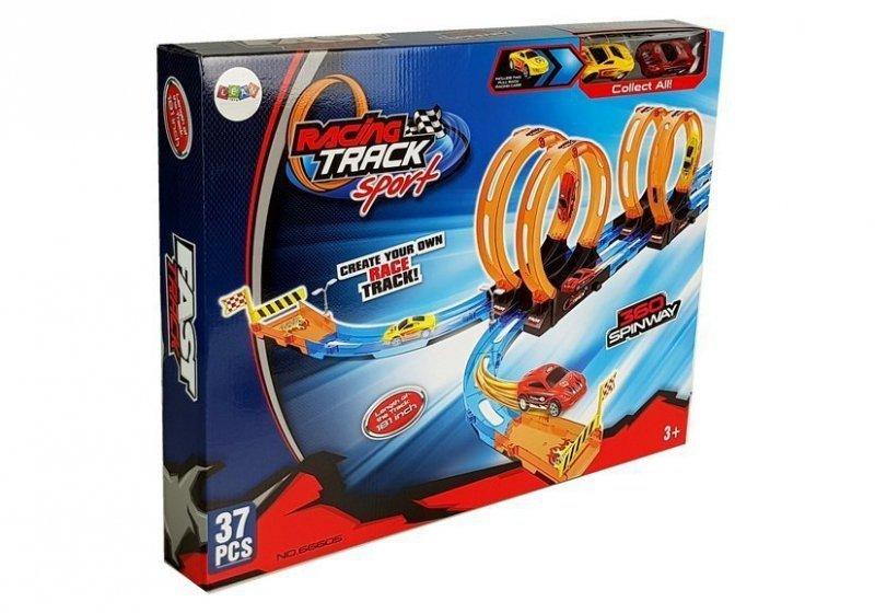Tor Wyścigowy Racing z 4 Pętlami Dwa Autka 181 cm