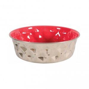 ZOLUX Miska Inox DIAMOND 550 ml kol. czerwony