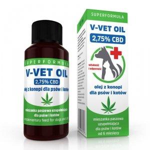 V-VET OIL - Olej z konopi dla psów i kotów