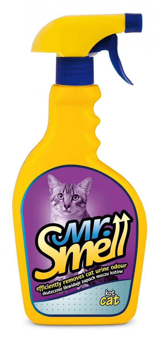 MR SMELL KOT skutecznie likwiduje zapach moczu kotów 500 ml