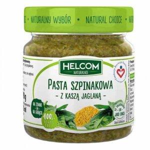 Pasta szpinakowa z kaszą jaglaną Helcom, 190g
