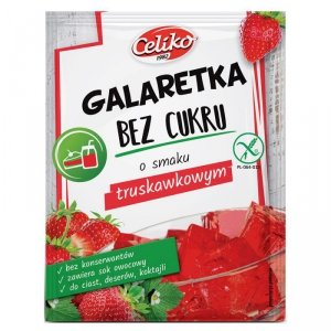 Galaretka bez cukru truskawkowa bez glutenu Celiko, 14g
