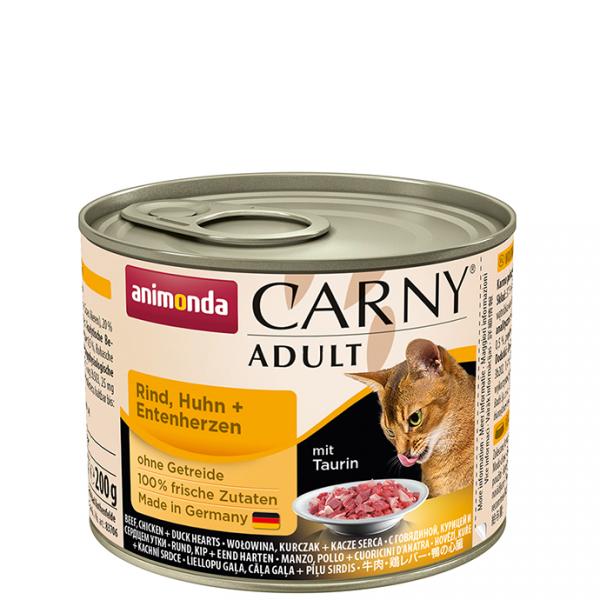 ANIMONDA Carny Adult puszka wołowina kurczak serce kacze 200 g