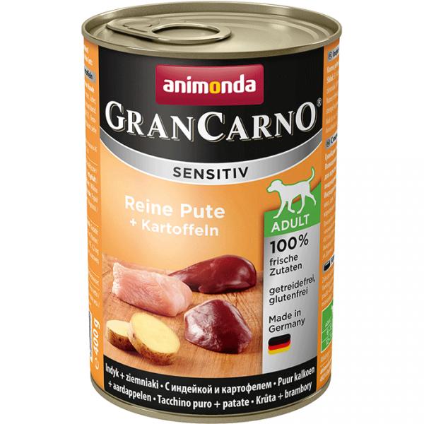 ANIMONDA GranCarno Sensitive Adult puszki czysty indyk ziemniak 400 g