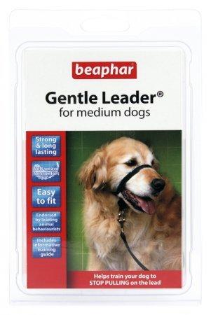 BEAPHAR GENTLE LEADER M - obroża średnia czarna dla psów