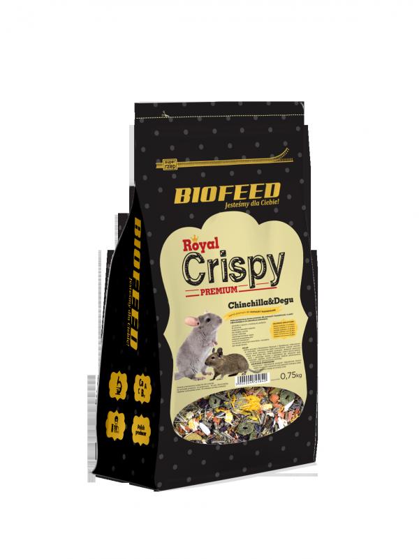 BIOFEED Royal Crispy Premium Chinchilla&Degu 750g - dla szynszyli i koszatniczek