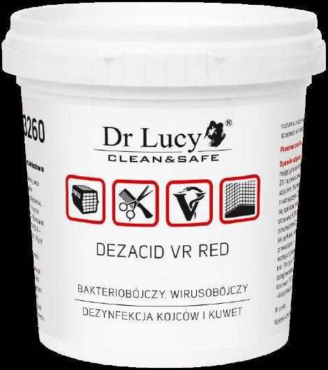 DR LUCY Preparat bakterio-, wiruso- i grzybobójczy w proszku [Dezacid VR red] 150g