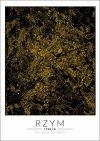 Rzym złota mapa - plakat