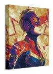 Captain Marvel Paint - obraz na płótnie