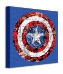 Marvel (Captain America Shield Collage) - Obraz na płótnie