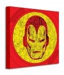 Marvel (Iron Man Helmet Collage) - Obraz na płótnie