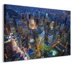 Nowy Jork Manhattan at Night - obraz na płótnie