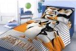 Pościel Pingwiny z Madagascaru 160x200 komplet pościeli