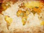 Fototapeta Mapa Świata Vintage 24028