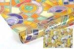 Statyczna folia okienna Witraż 90x150 Mozaika