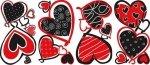 Naklejki czerwone serca