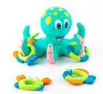 Pływająca ośmiornica z pierścieniami do zabawy w kąpieli