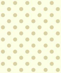 Tapeta w beżowe kropki grochy 30506-3