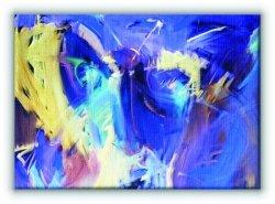 Niebieska abstrakcja - Obraz na płótnie